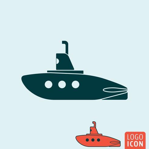 Ícone submarino isolado.