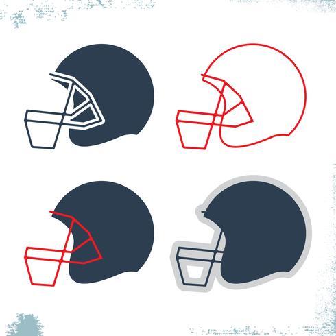 Icône de casque de football vecteur