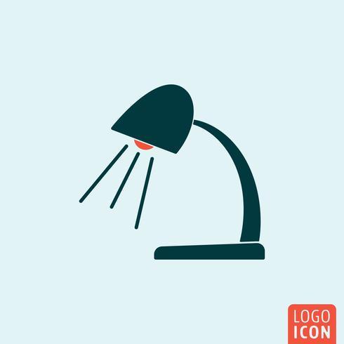 Icono de la lámpara aislado