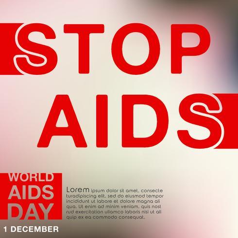 AIDS-Farbbandplakat