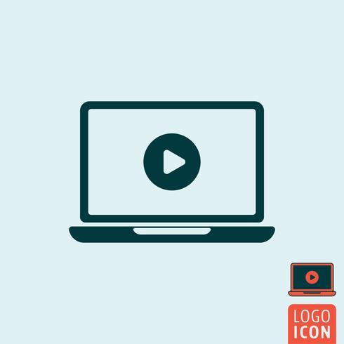 Laptop icon isolated.