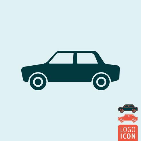 Icono de coche aislado vector