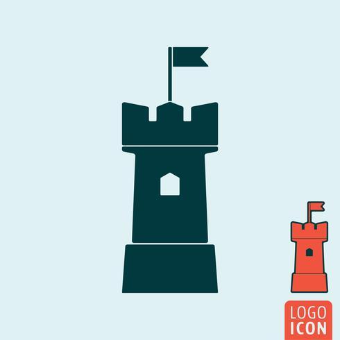 Icono de la torre aislado vector