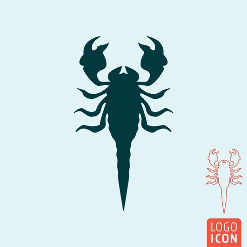 Icono de escorpión aislado vector