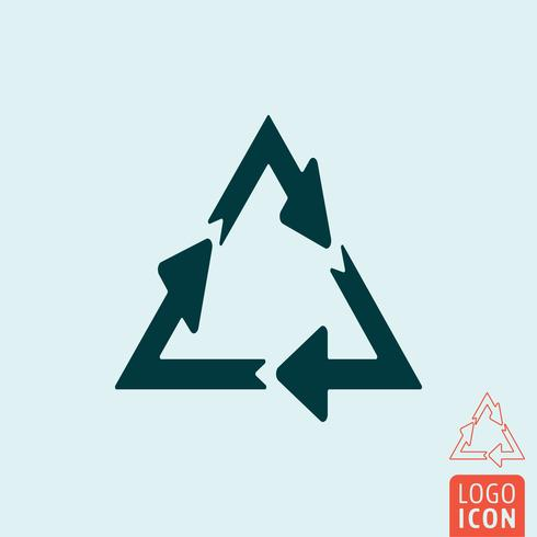 Recycler l'icône isolé vecteur