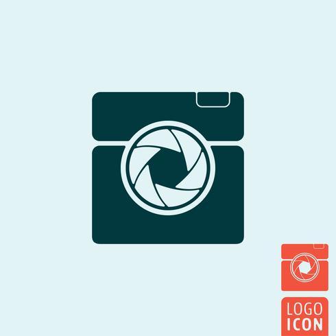 Camera icon isolated vector