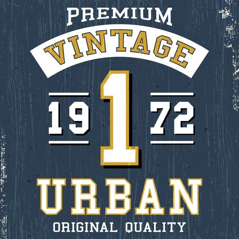 Vintage urban poster