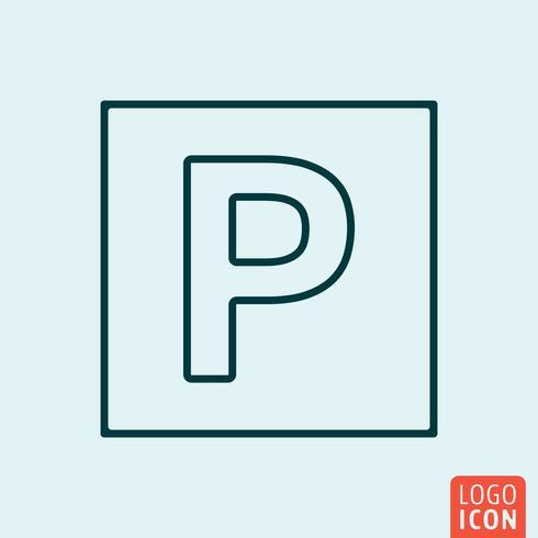 Diseño de líneas de iconos vector
