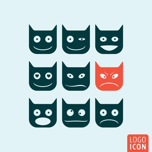 Ícone de emoticons isolado vetor