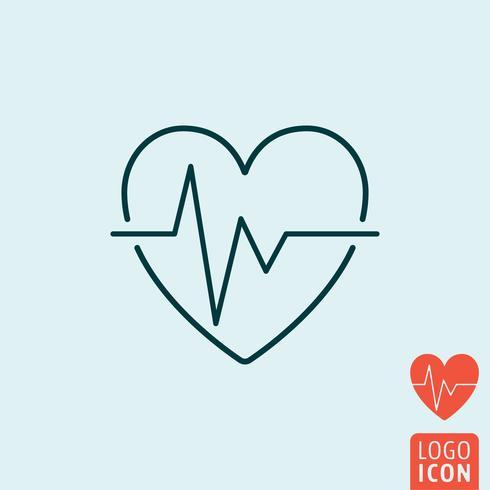 Ícone de batimento cardíaco isolado. vetor
