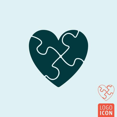 Hjärta ikon isolerad
