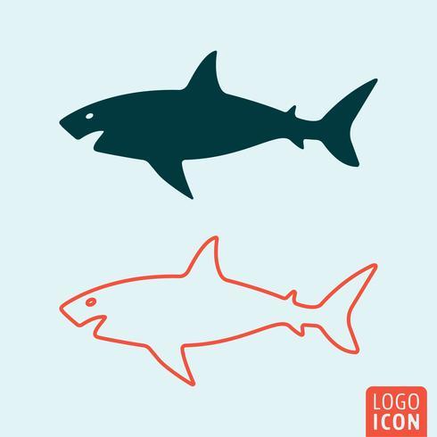 Tubarão, ícone, isolado
