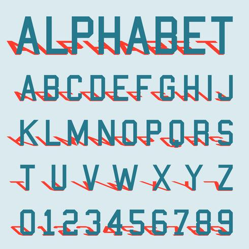 Alfabet schaduwsjabloon