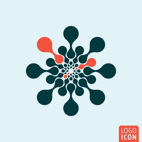 Ícone do logotipo da molécula