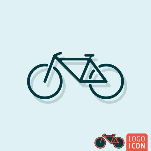 Icona della bicicletta isolato.