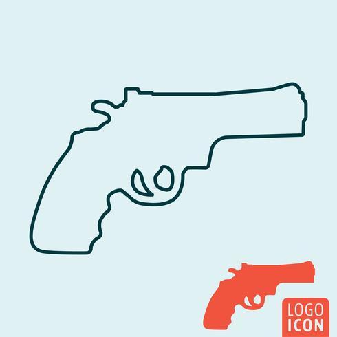 Icona di revolver isolato.