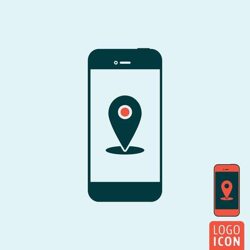 Smartphone-pictogram geïsoleerd