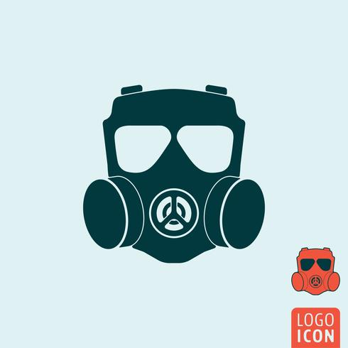 Gas mask icon isolated.