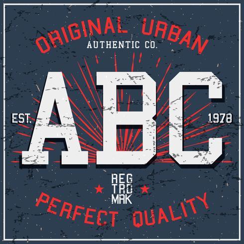 Poster vintage ABC