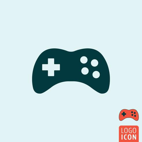 Gamepad icon isolated vector