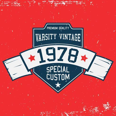 Plantilla de camiseta vintage