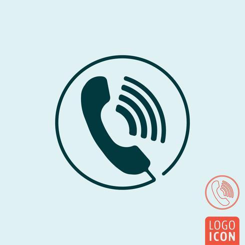 Icona di chiamata telefonica isolata