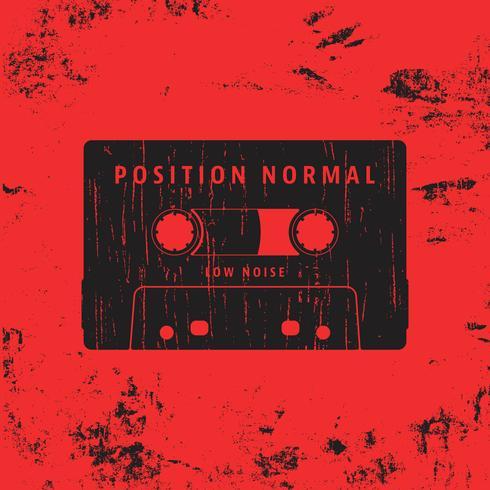Sello vintage de cassette