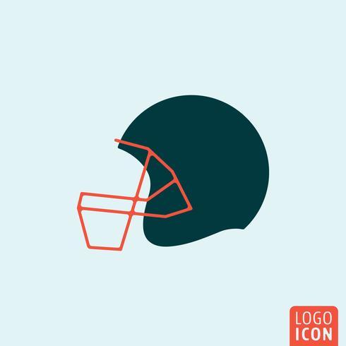 Amerikansk fotbollshjälm vektor