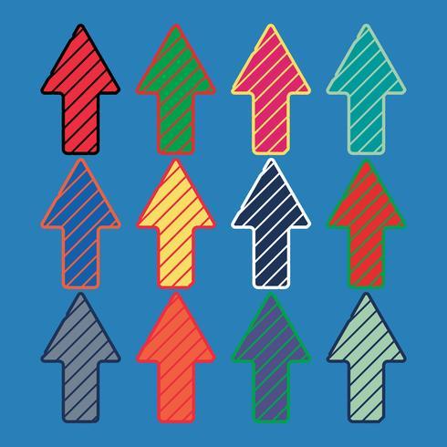 Modèle de flèches colorées vecteur