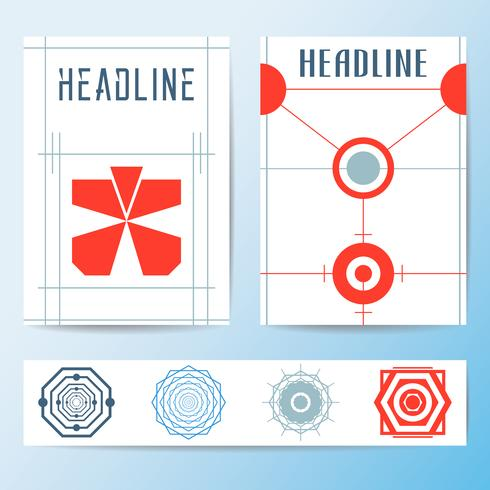 Abstract cover brochure template
