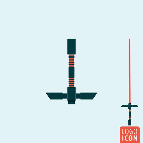 Lichtschwert-Symbol isoliert