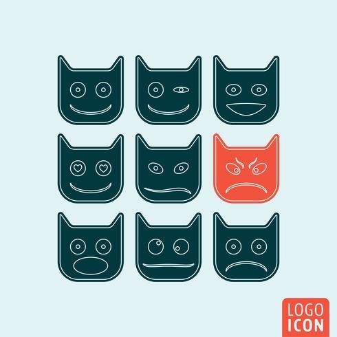 Emoticons pictogram geïsoleerd