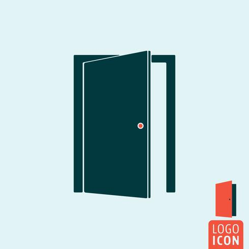 Porta, ícone, isolado vetor