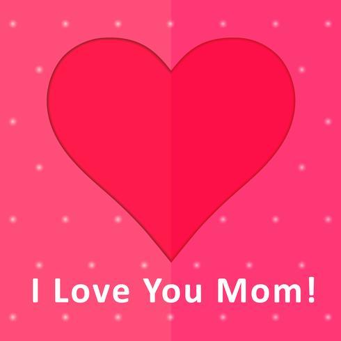 Eu te amo cartão da mamã vetor