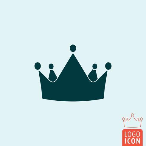 Icône de la couronne isolée