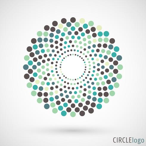 Abstrakt cirkel logotyp vektor