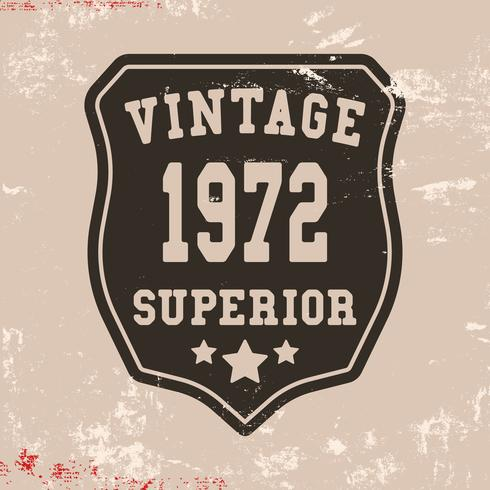Superior vintage stamp vector