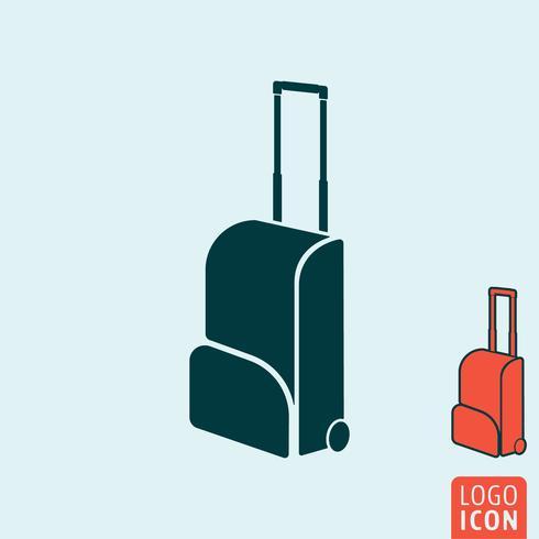 Ícone de saco de viagem isolado