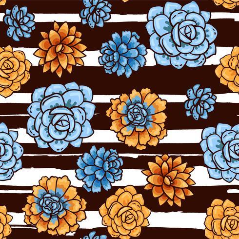 Tendencia de patrones de suculentas y rayas.