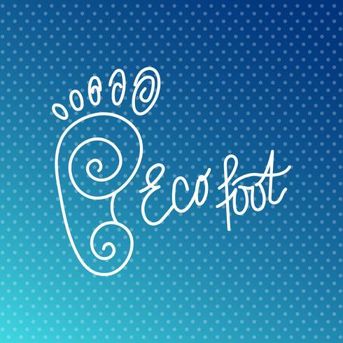 Piede ecologico Logo Centro salute, salone di bellezza ortopedico.