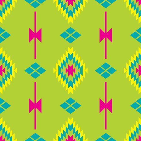 Modèle sans couture de textile d'entrelacs folkloriques mexicains