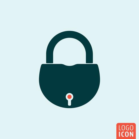 Lock icon isolated