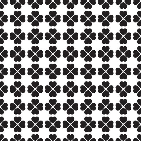 Monochrome seamless pattern with clover leaves, the symbol of St. Patrick's Day in Ireland vector