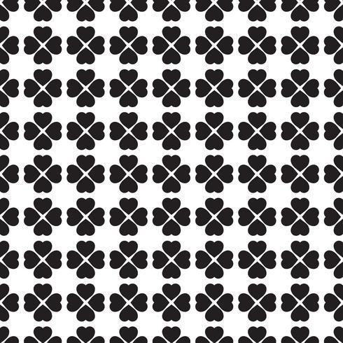 Monochroom naadloze patroon met klaverbladeren, het symbool van St. Patrick's Day in Ierland
