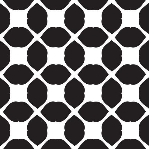 Vector universal blanco y negro patrón de mosaico sin fisuras.