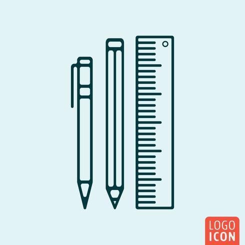 School aanbod pictogram vector
