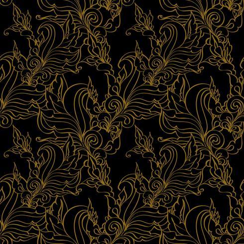 Gold nahtlose Mode Muster.