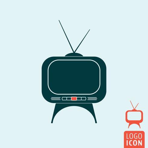 Tv set icon isolé