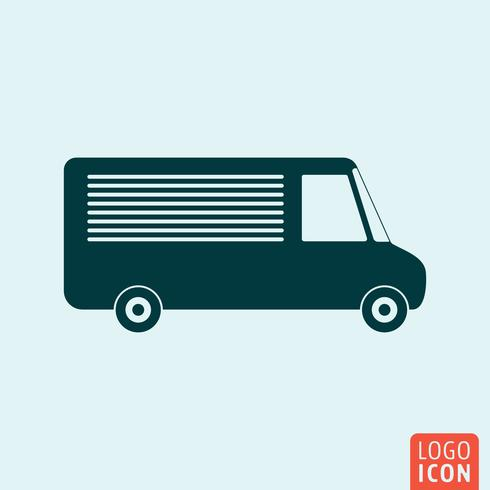 Vehicle icon isolated