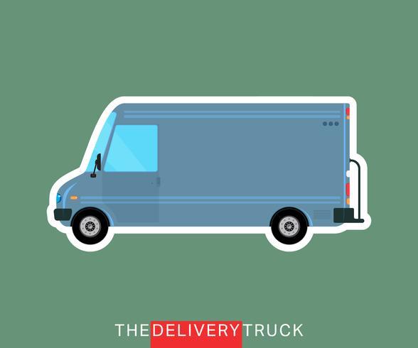 Camion di consegna isolato